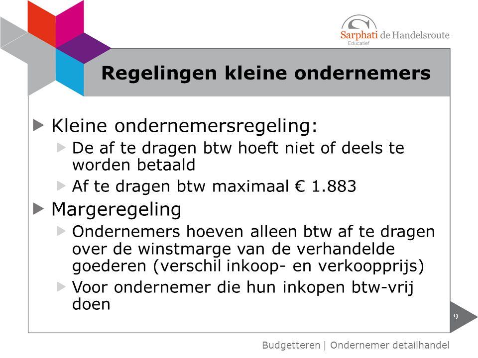 Kleine ondernemersregeling: De af te dragen btw hoeft niet of deels te worden betaald Af te dragen btw maximaal € 1.883 Margeregeling Ondernemers hoev