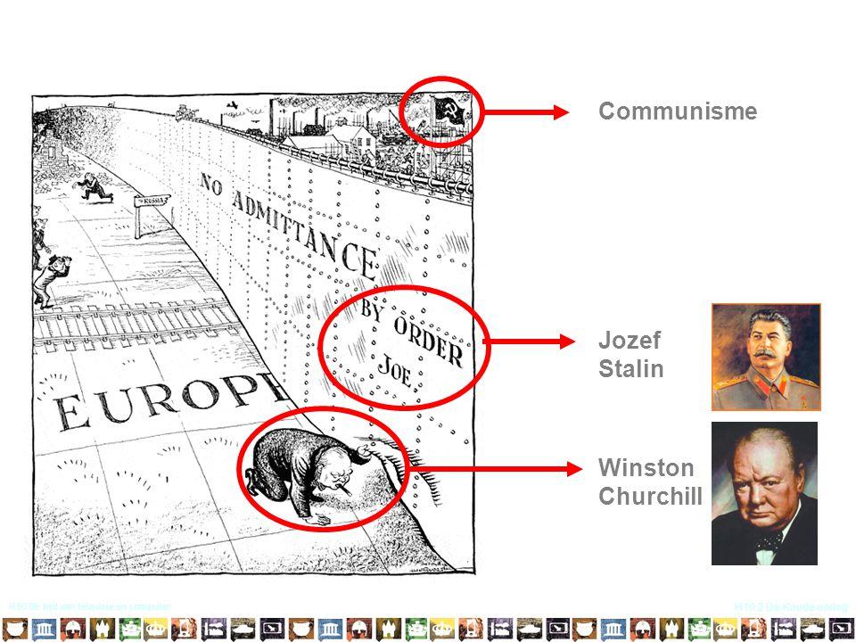 H10 De tijd van televisie en computer H10.2 De Koude oorlog Communisme Jozef Stalin Winston Churchill