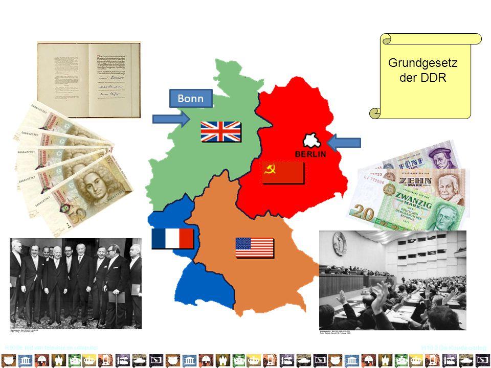 H10 De tijd van televisie en computer H10.2 De Koude oorlog Grundgesetz der DDR Bonn