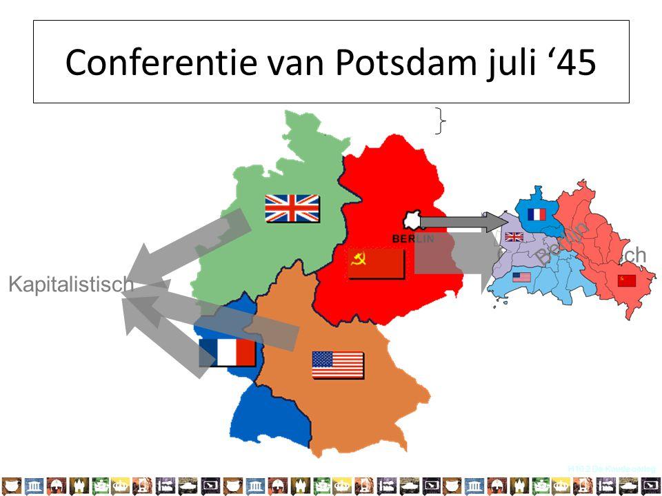 H10.2 De Koude oorlog Communistisch Kapitalistisch Berlijn Conferentie van Potsdam juli '45