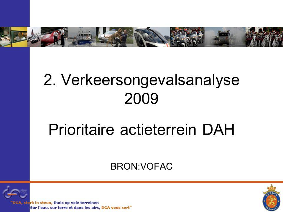 2. Verkeersongevalsanalyse 2009 Prioritaire actieterrein DAH BRON:VOFAC