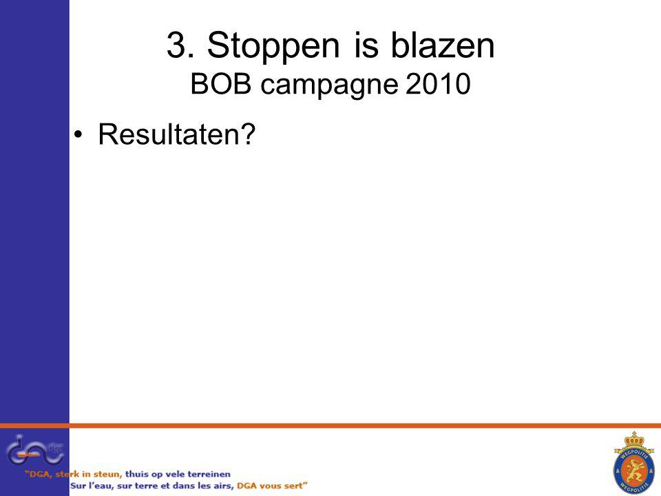 3. Stoppen is blazen BOB campagne 2010 Resultaten?