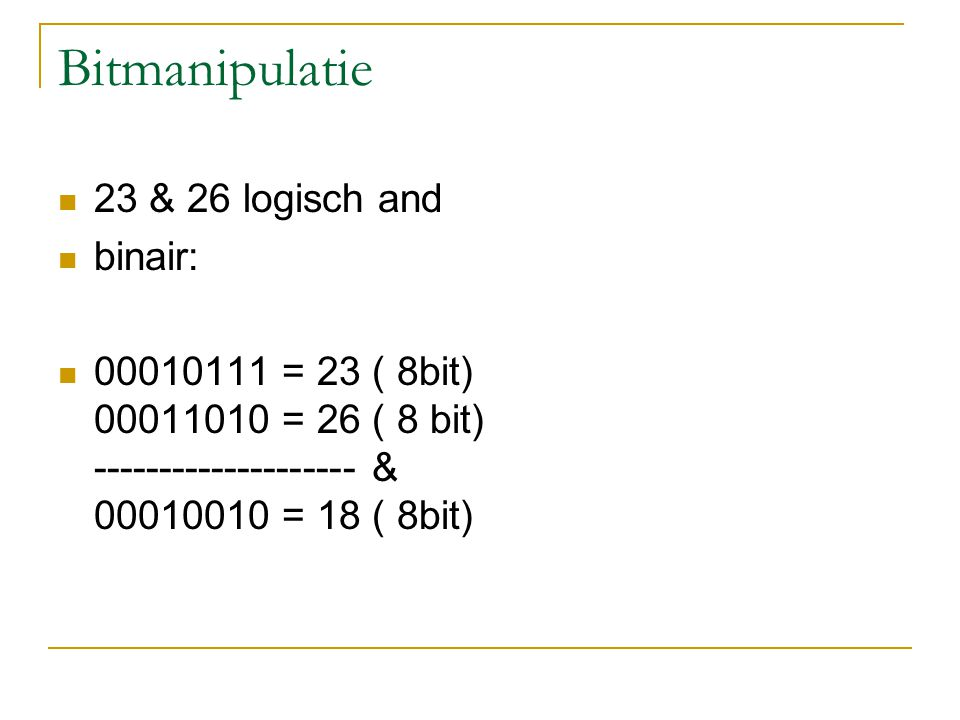 Conditionele expressies 1. If ( a< b) z=a+1 ; else z= b-1; 2. 3. Korter: 4. z = a< b ? a+1 : b-1