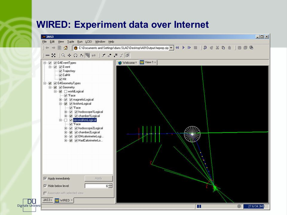 WIRED: Experiment data over Internet