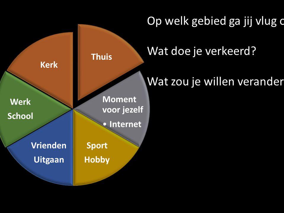 Thuis Moment voor jezelf Internet Sport Hobby Vrienden Uitgaan Werk School Kerk Op welk gebied ga jij vlug onderuit.