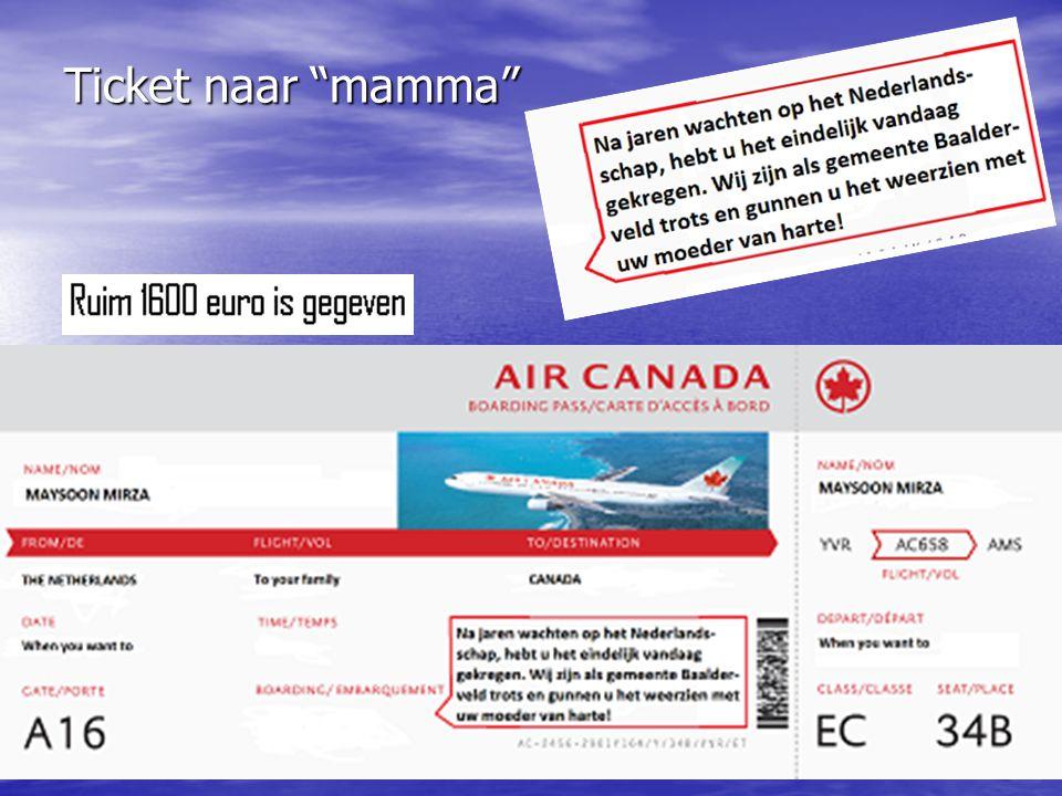 Ticket naar mamma