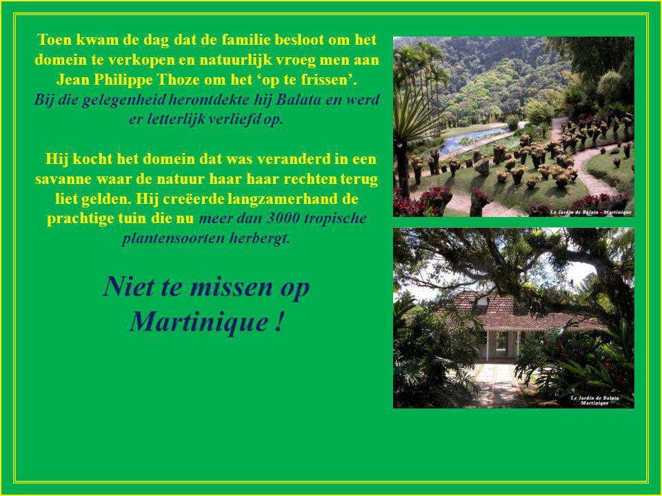 In 1982 begonnen is de Balata tuin de creatie van Jean-Philippe Thoze.