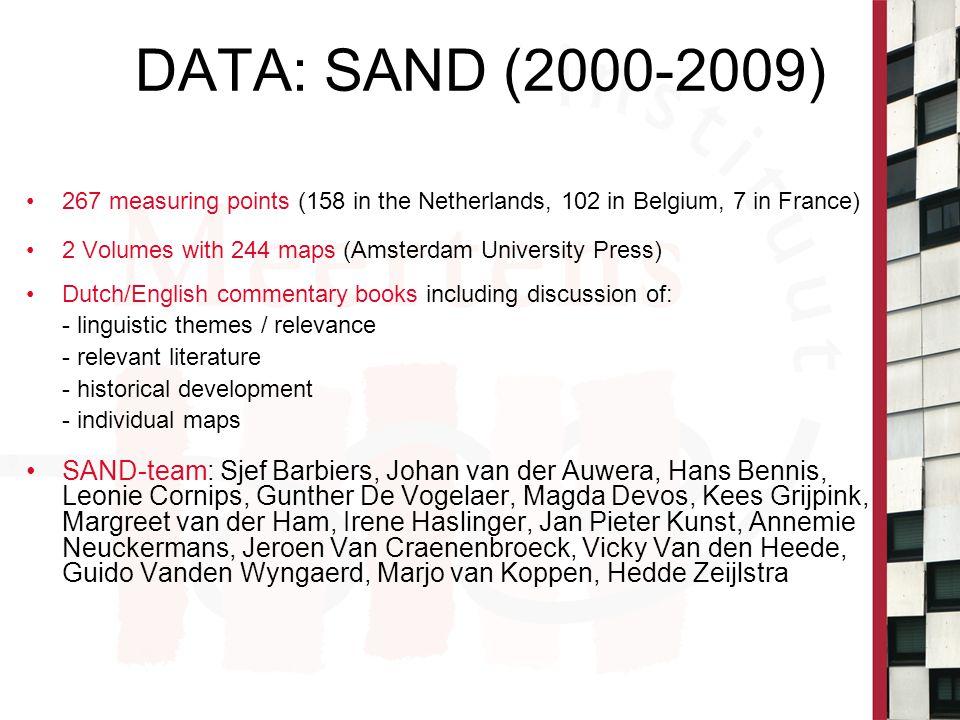 SAND II (2009) Sjef Barbiers, Johan van der Auwera, Hans Bennis, Eefje Boef, Gunther De Vogelaer, Margreet van der Ham 89 maps Amsterdam University Press (AUP)