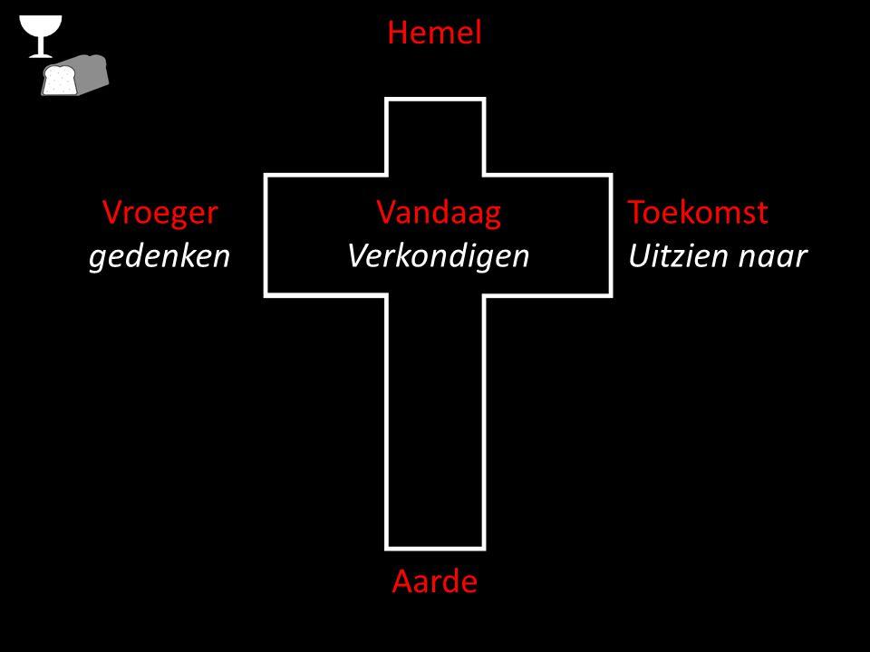 Hemel Verbonden met Christus Aarde verbonden met elkaar Vandaag Verkondigen Toekomst Uitzien naar Vroeger gedenken