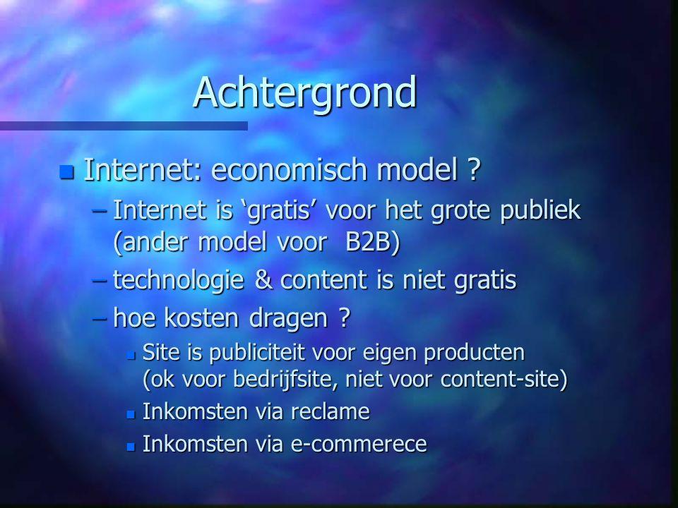Achtergrond n Internet: economisch model .