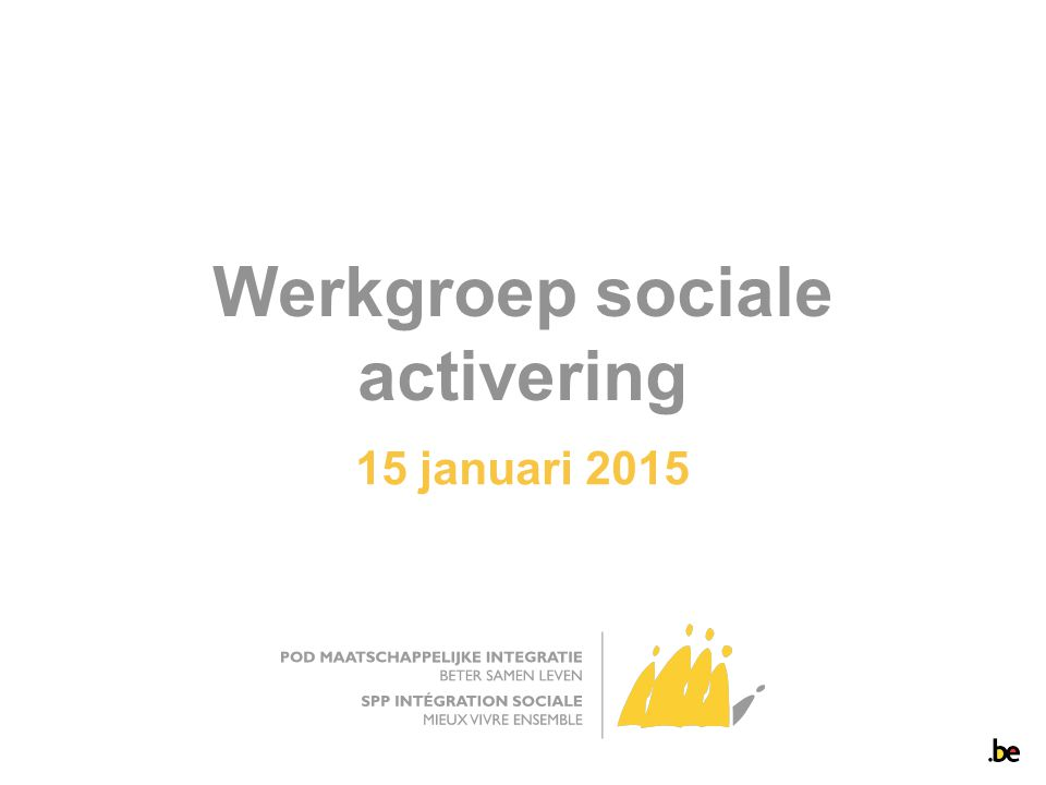 Werkgroep sociale activering 15 januari 2015