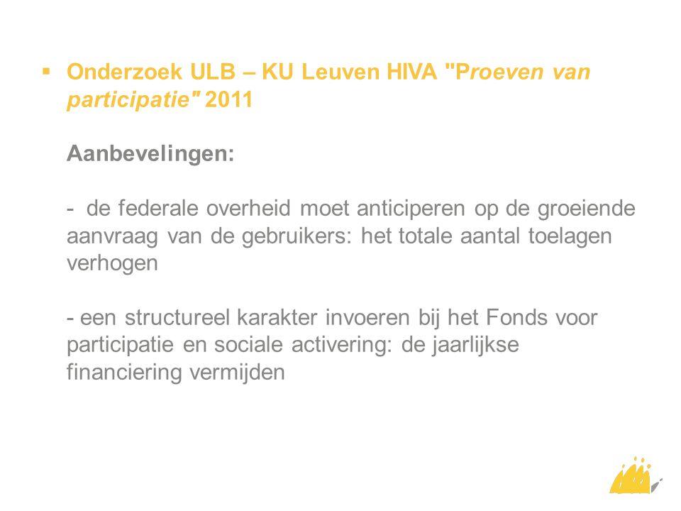  Onderzoek ULB – KU Leuven HIVA