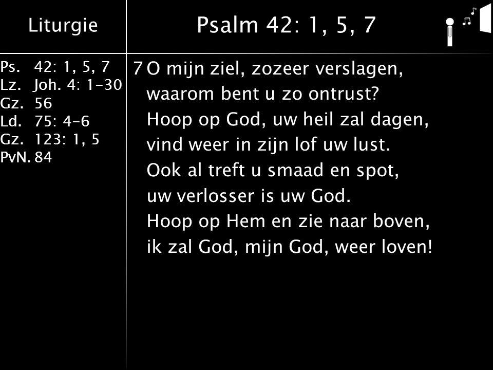 Liturgie Ps.42: 1, 5, 7 Lz.Joh.