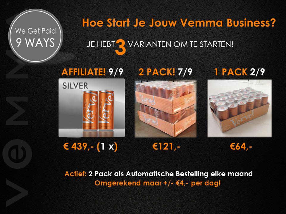 Actief: 2 Pack als Automatische Bestelling elke maand Omgerekend maar +/- €4,- per dag.