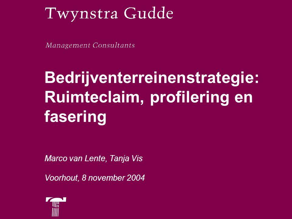 © Twynstra Opzet Ten bate van As Leiden Katwijk bepalen ruimteclaim Profileren en faseren nieuwe terreinen