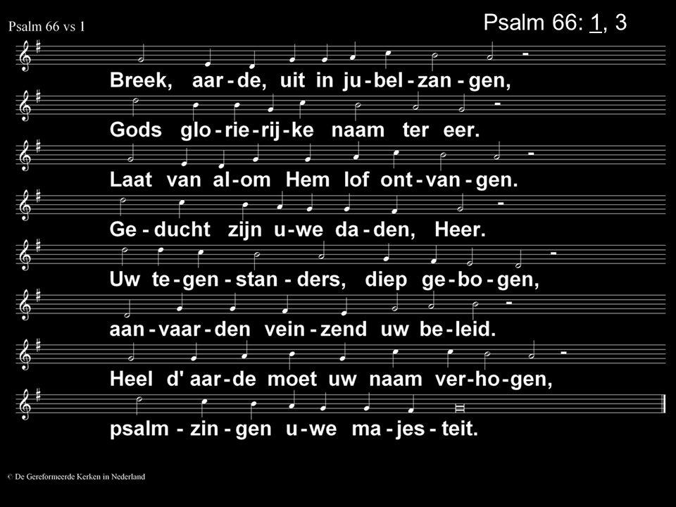 Psalm 66: 1, 3