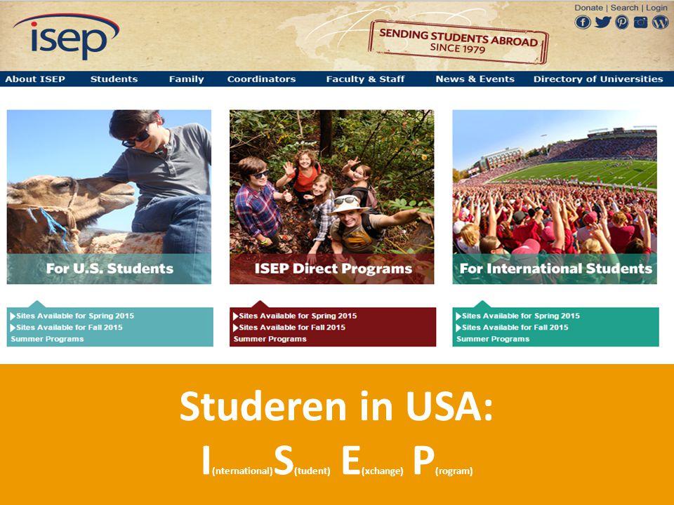 Studeren in USA: I (nternational) S (tudent) E (xchange) P (rogram)