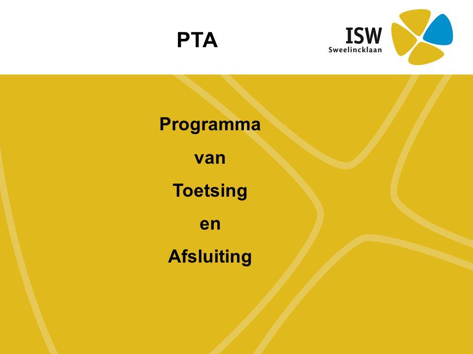 Programma van Toetsing en Afsluiting PTA