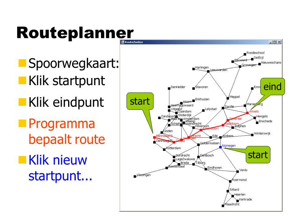 Het zoeken begint...Pad pad; pad = new Pad(begin, null, 0); null 0 hij is niet groot...