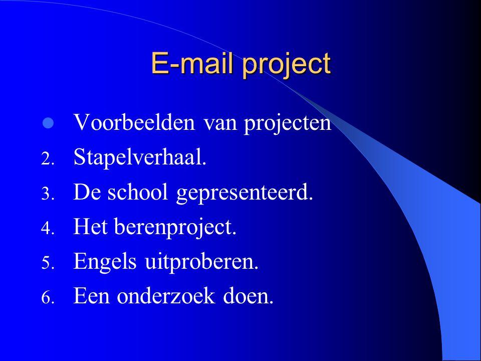 E-mail project Voorbeelden van projecten 1. Briefwisseling met 10 thema's: Introductie.