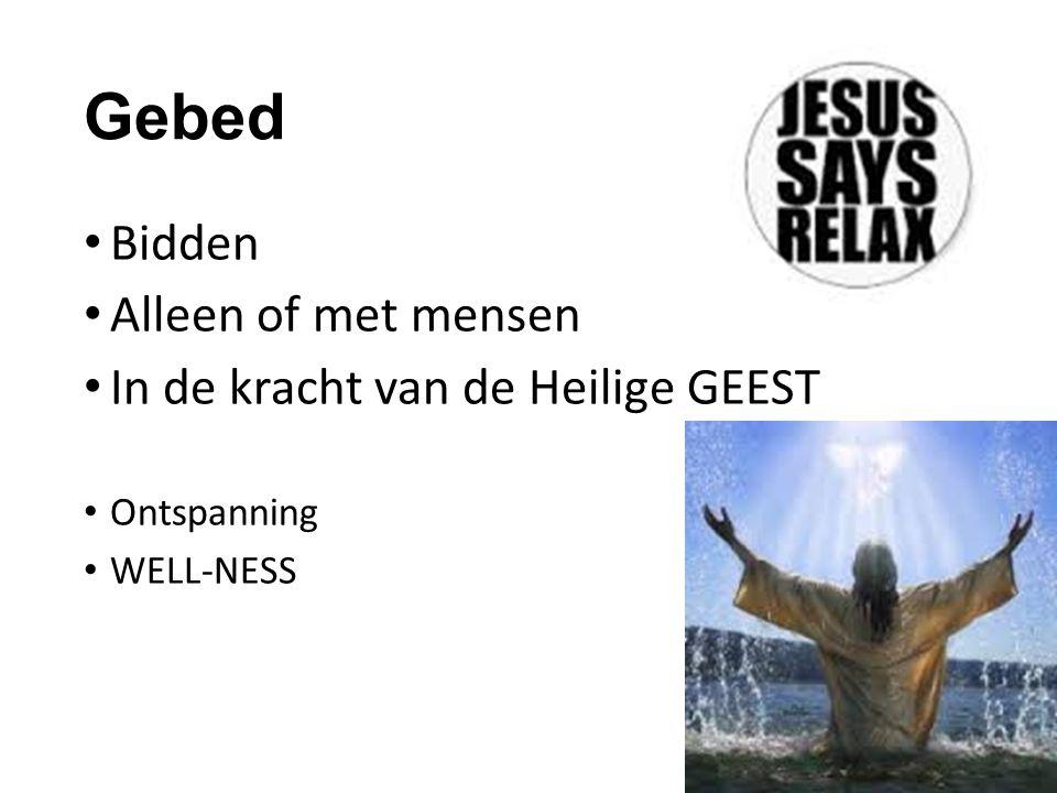 Voorbeeld: JEZUS EN DE HEILIGE GEEST Zonder Mij kun je niets doen Joh 15: 5 Jezus zelf: Verwekt door de HG (Mat 1, Luk 1) Gedoopt door de HG (Luk 3) Geleid door de HG (Luk 4) Gezalfd door de HG en wij ook…………………………………………………….