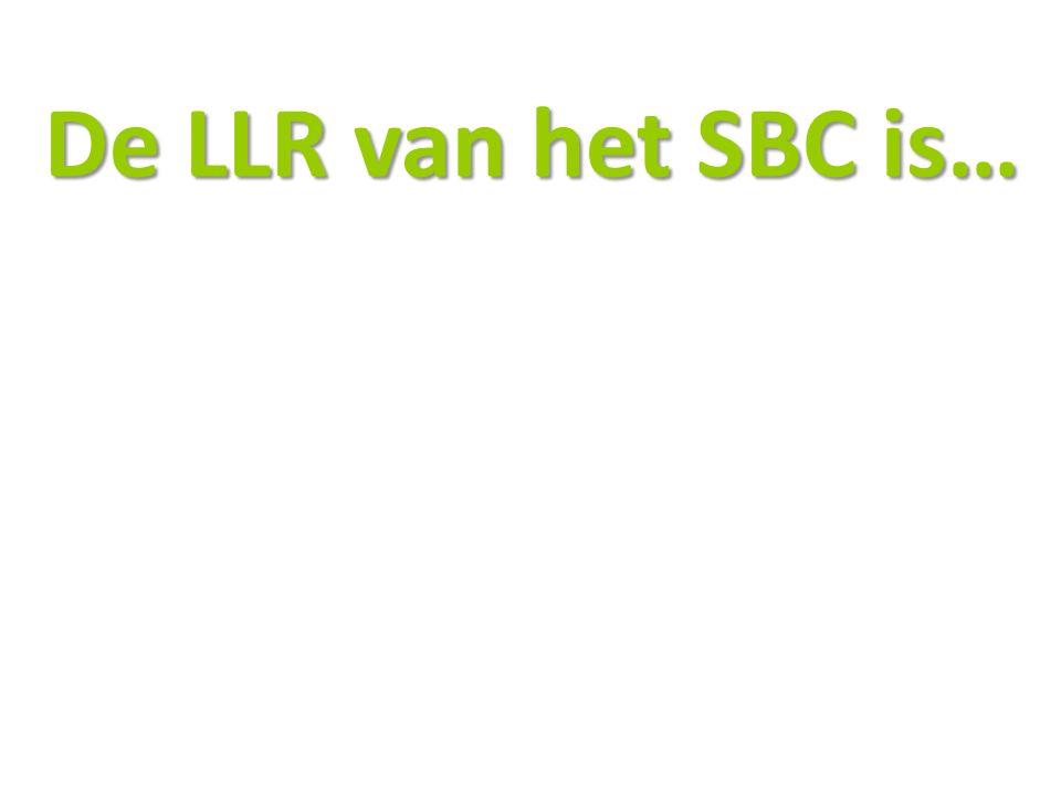 De LLR van het SBC is…