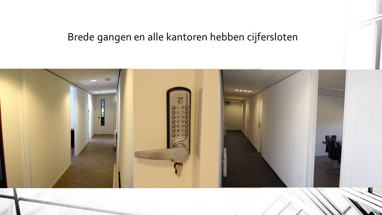 Brede gangen en alle kantoren hebben cijfersloten