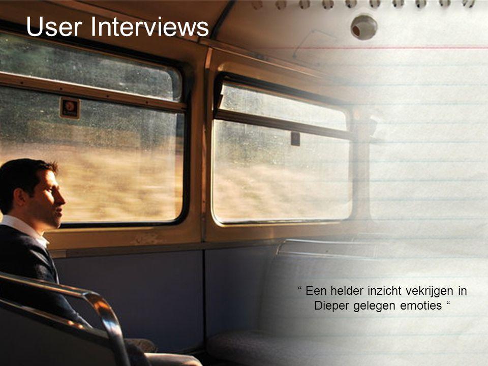 """"""" Een helder inzicht vekrijgen in Dieper gelegen emoties """" User Interviews"""