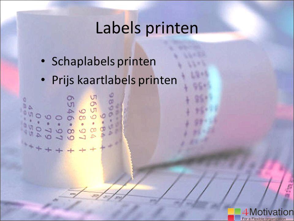 Labels printen Schaplabels printen Prijs kaartlabels printen