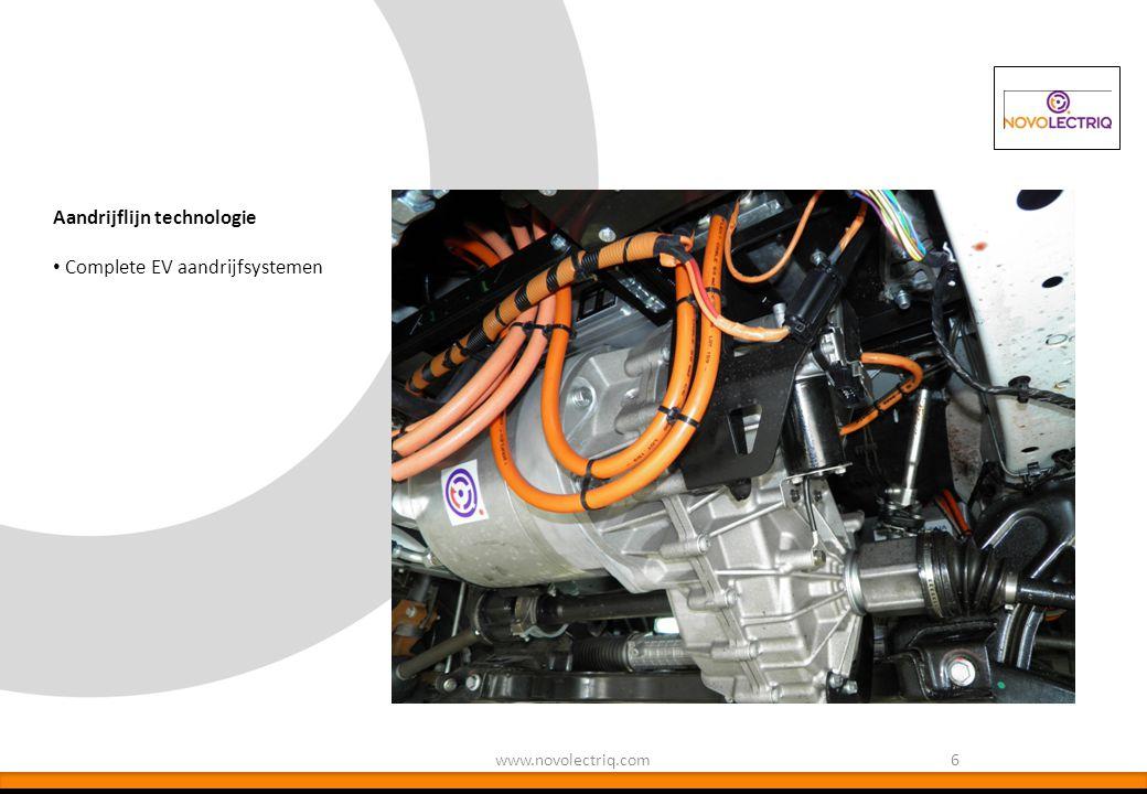 6www.novolectriq.com Aandrijflijn technologie Complete EV aandrijfsystemen