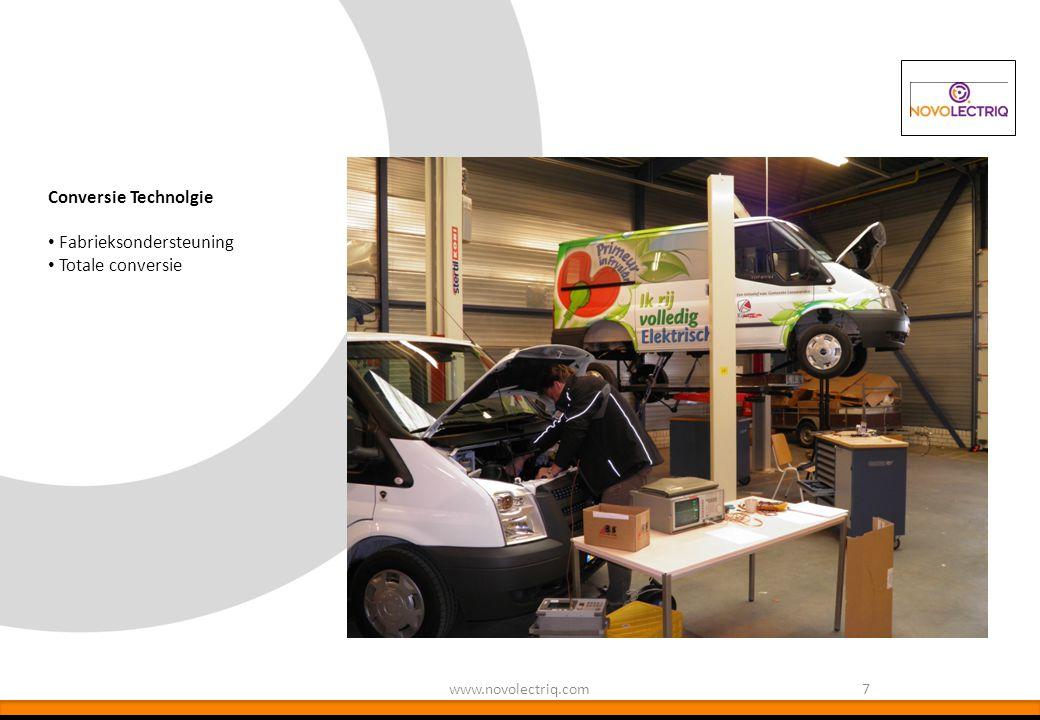 7www.novolectriq.com Conversie Technolgie Fabrieksondersteuning Totale conversie