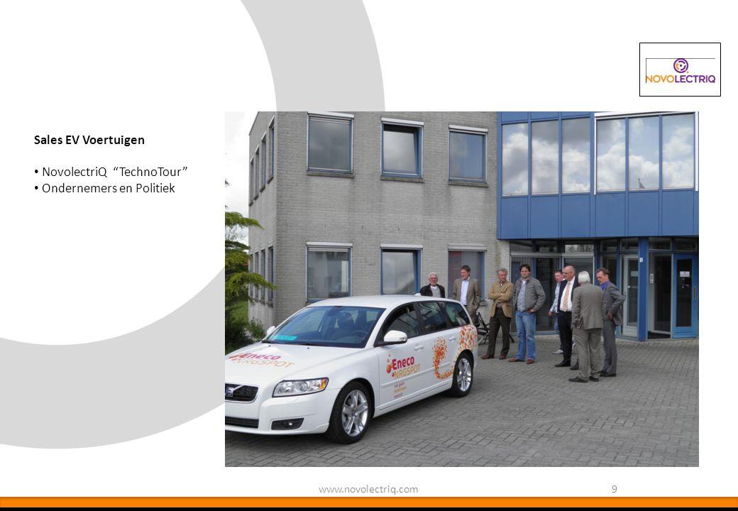 "9www.novolectriq.com Sales EV Voertuigen NovolectriQ ""TechnoTour"" Ondernemers en Politiek"