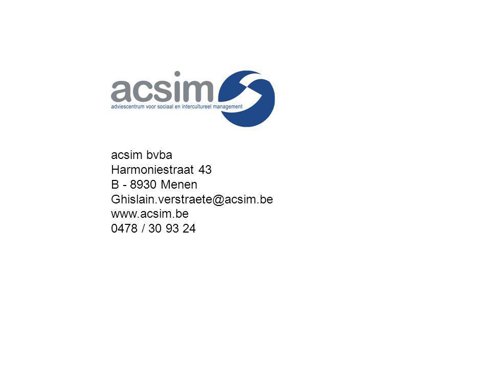 acsim bvba Harmoniestraat 43 B - 8930 Menen Ghislain.verstraete@acsim.be www.acsim.be 0478 / 30 93 24