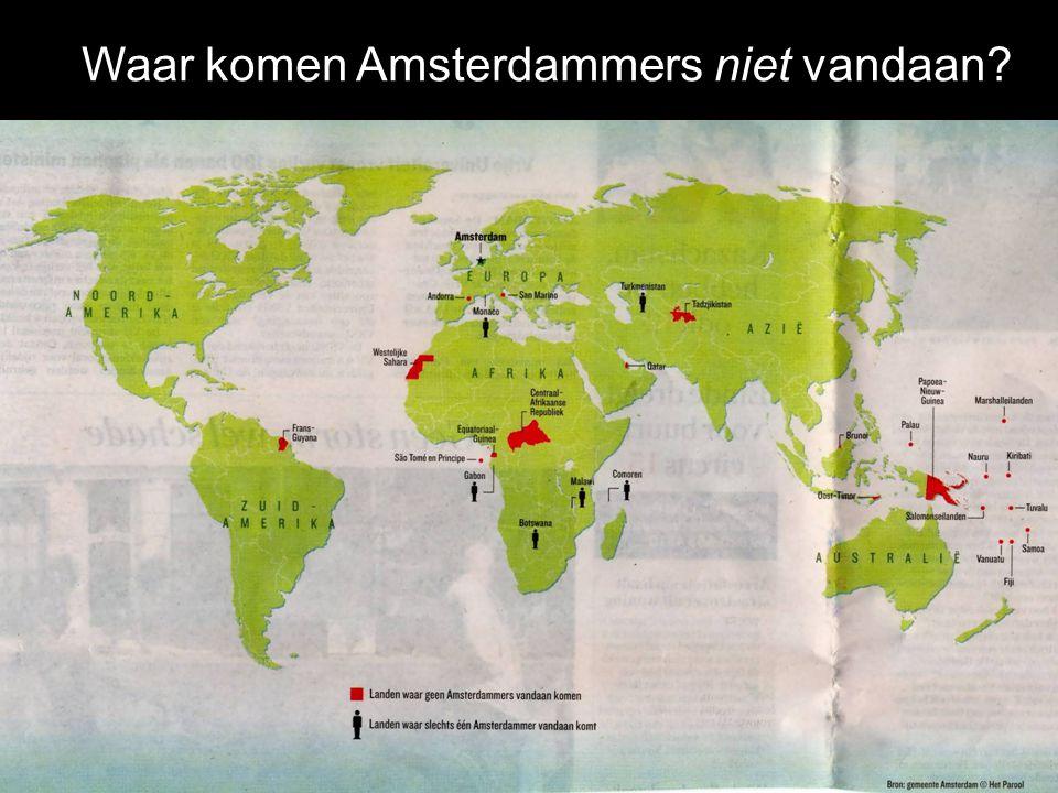Waar komen Amsterdammers niet vandaan?