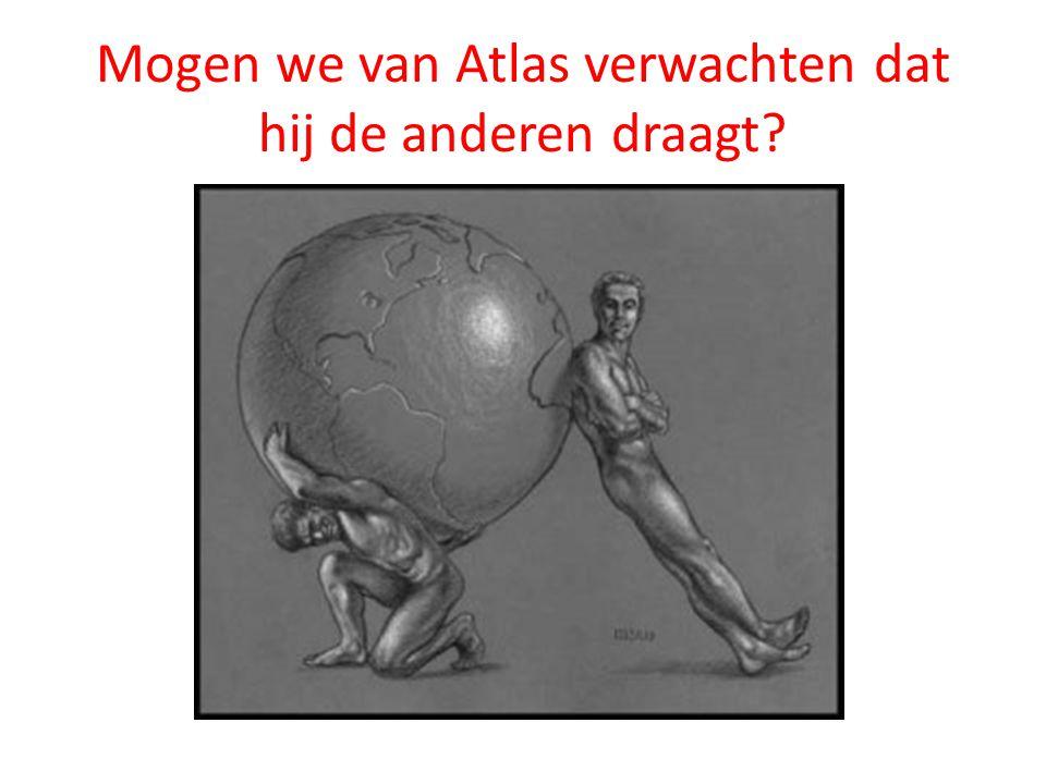 Mogen we van Atlas verwachten dat hij de anderen draagt