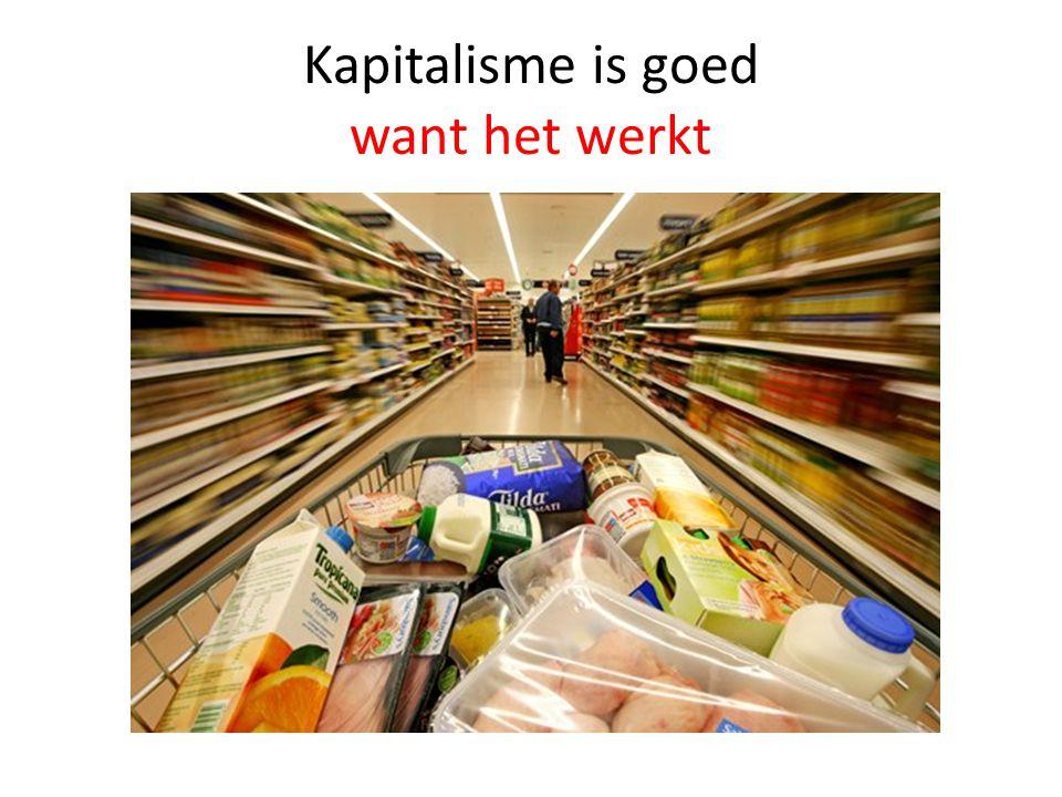 Kapitalisme is goed want het werkt