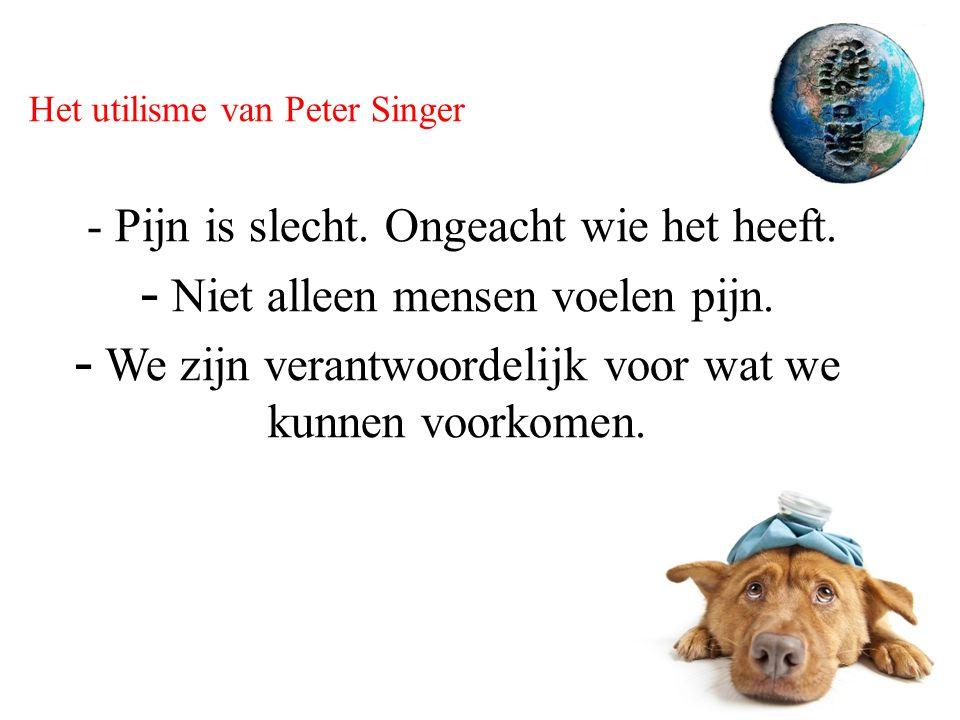Het utilisme van Peter Singer - Pijn is slecht. Ongeacht wie het heeft.