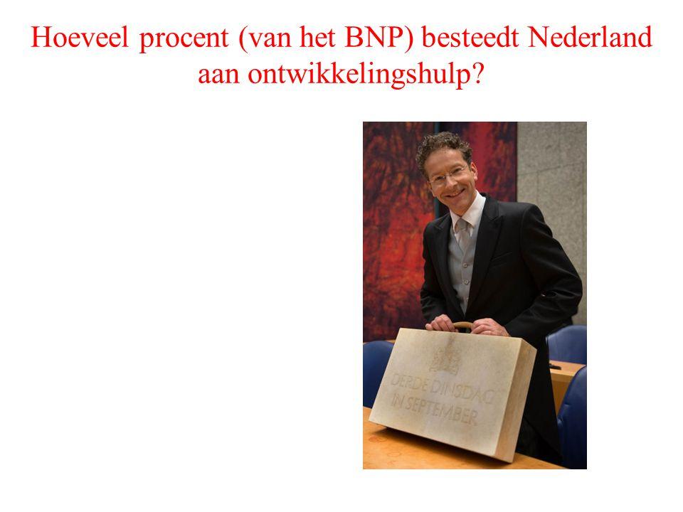 Hoeveel procent (van het BNP) besteedt Nederland aan ontwikkelingshulp