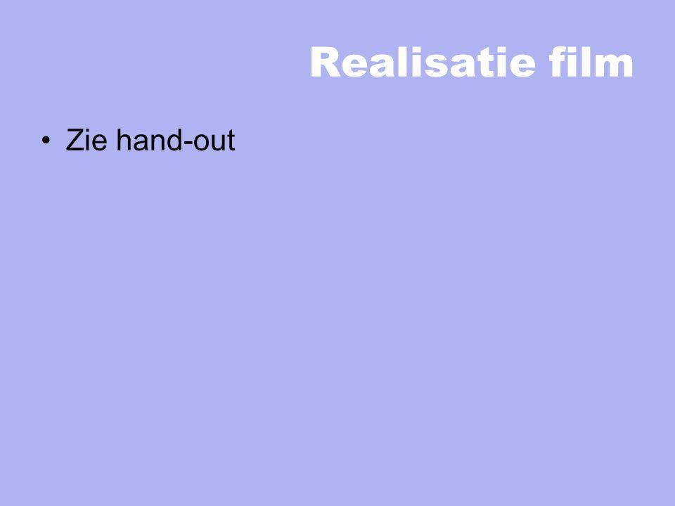Realisatie film Zie hand-out