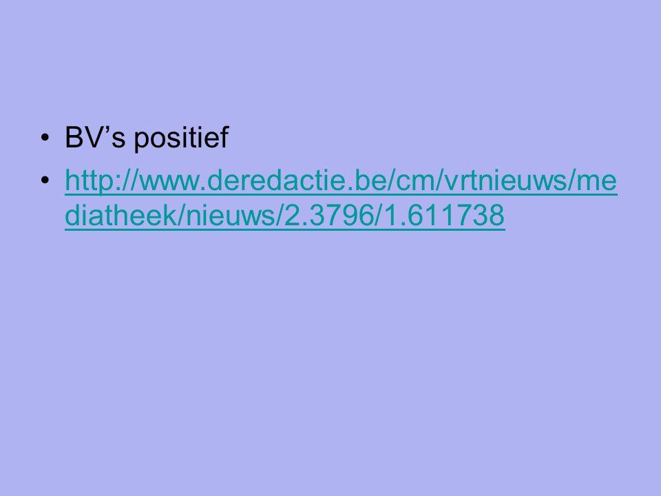 BV's positief http://www.deredactie.be/cm/vrtnieuws/me diatheek/nieuws/2.3796/1.611738http://www.deredactie.be/cm/vrtnieuws/me diatheek/nieuws/2.3796/1.611738