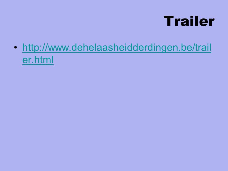 Trailer http://www.dehelaasheidderdingen.be/trail er.htmlhttp://www.dehelaasheidderdingen.be/trail er.html