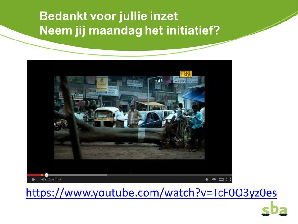 Bedankt voor jullie inzet Neem jij maandag het initiatief? https://www.youtube.com/watch?v=TcF0O3yz0es