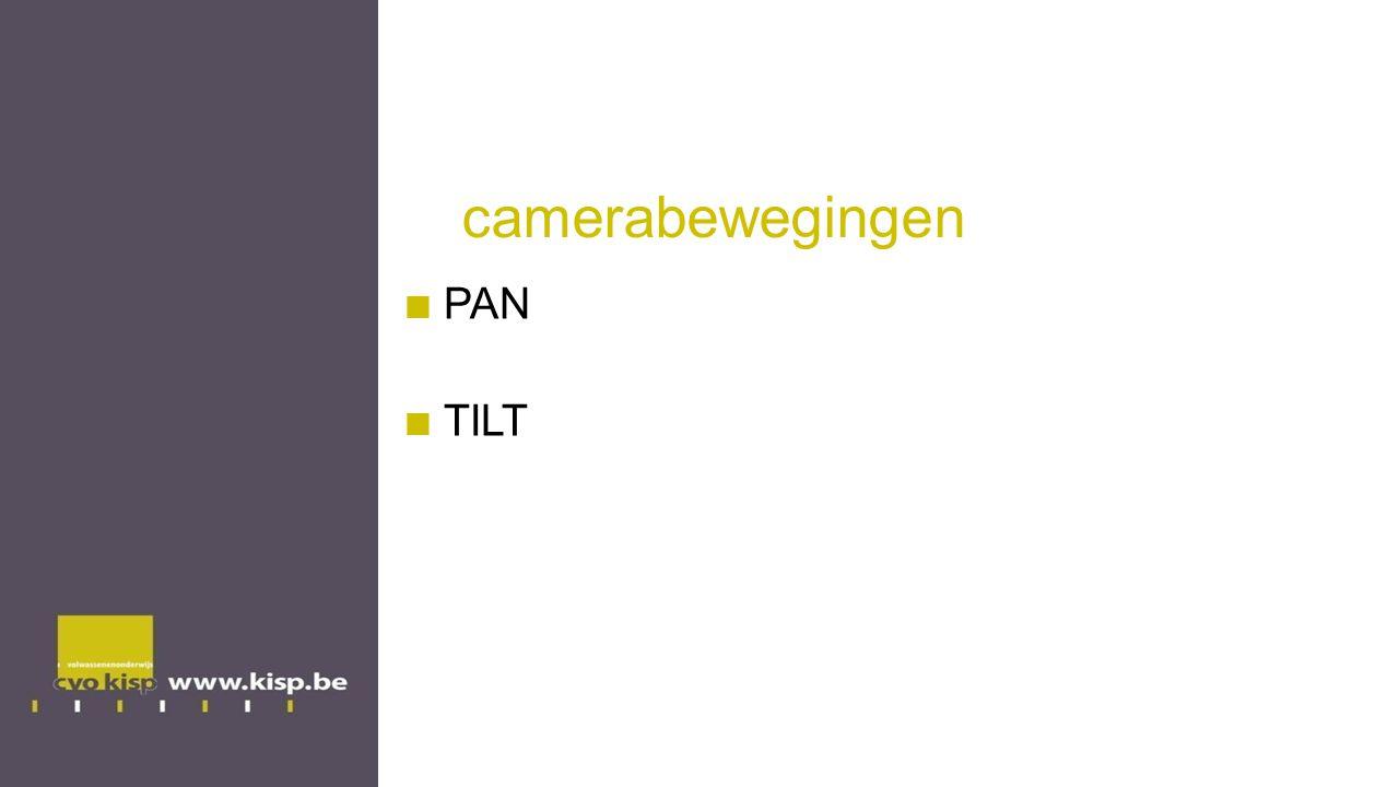 camerabewegingen PAN TILT