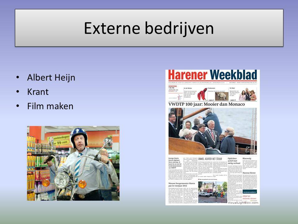 Externe bedrijven Albert Heijn Krant Film maken