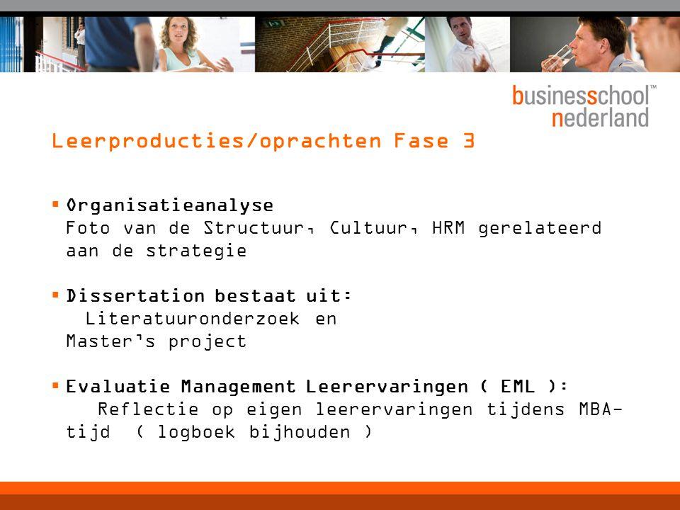 Leerproducties/oprachten Fase 3  Organisatieanalyse Foto van de Structuur, Cultuur, HRM gerelateerd aan de strategie  Dissertation bestaat uit: Lite