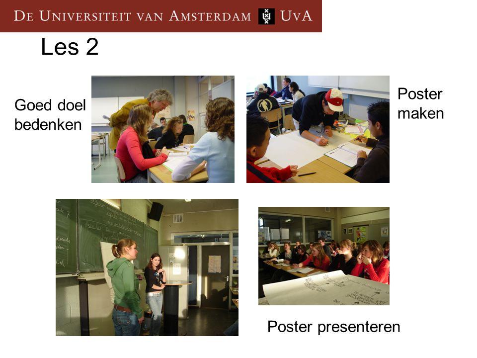 Les 2 Goed doel bedenken Poster maken Poster presenteren