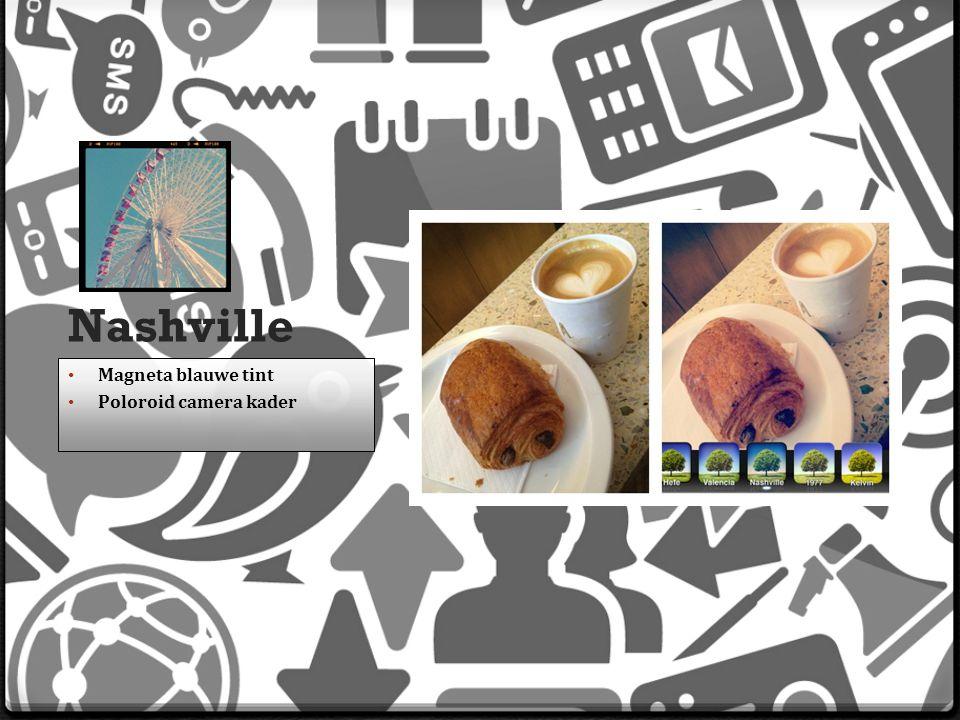 Nashville Magneta blauwe tint Poloroid camera kader