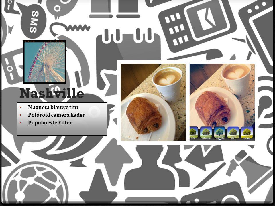 Nashville Magneta blauwe tint Poloroid camera kader Populairste Filter