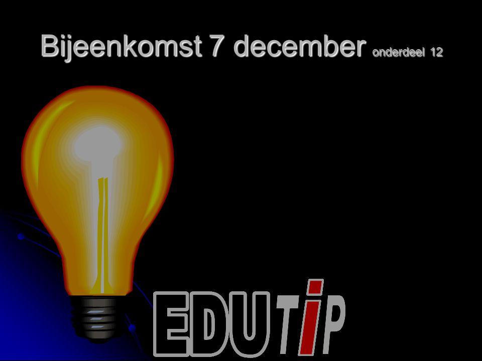 Bijeenkomst 7 december onderdeel 12