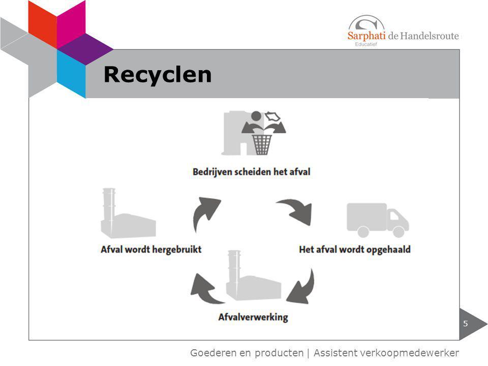 Goederen en producten   Assistent verkoopmedewerker 5 Recyclen